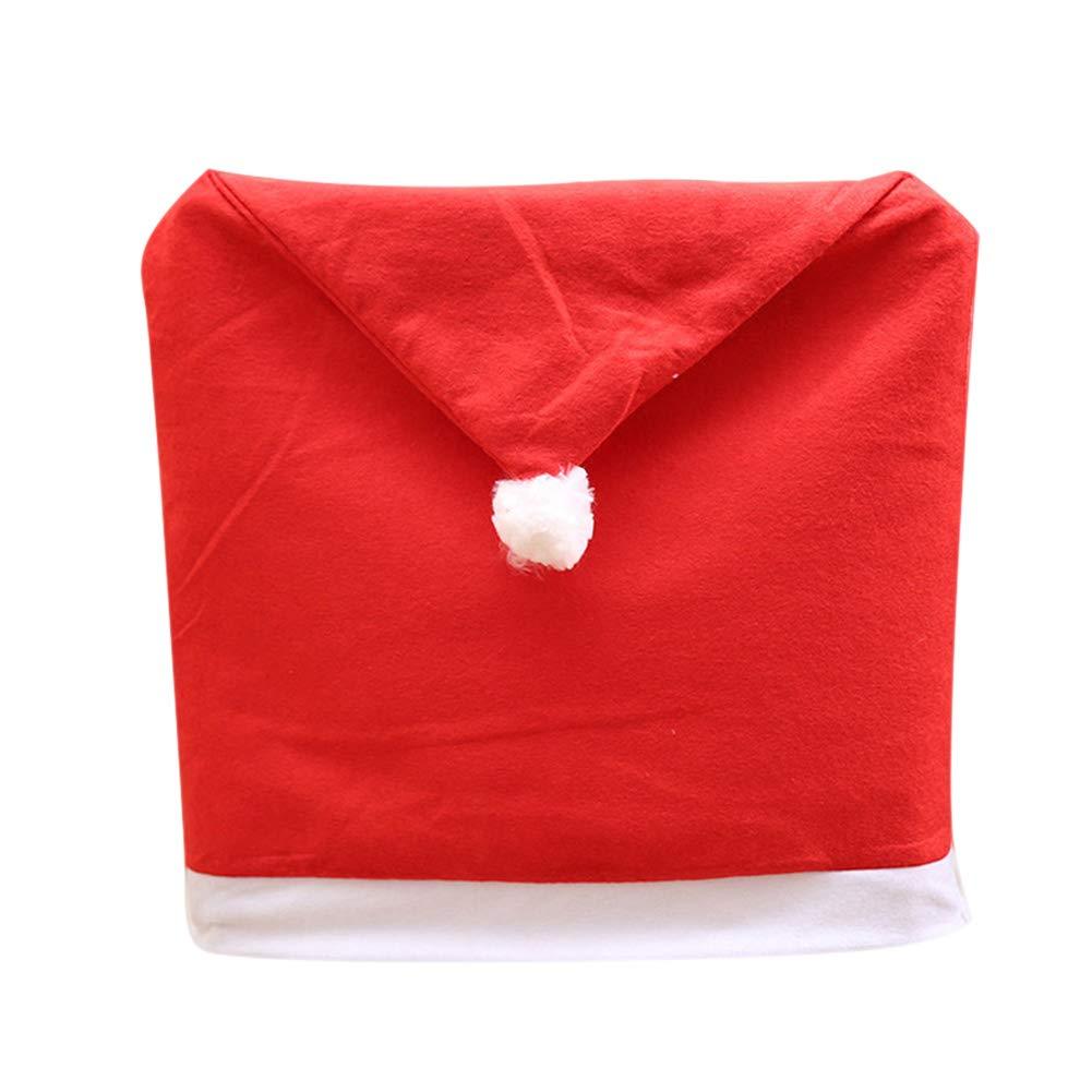 Alextry Christmas Chair Covers Santa Snowman Sedia da Pranzo Covers Xmas Party Kitchen Decor, Rosso