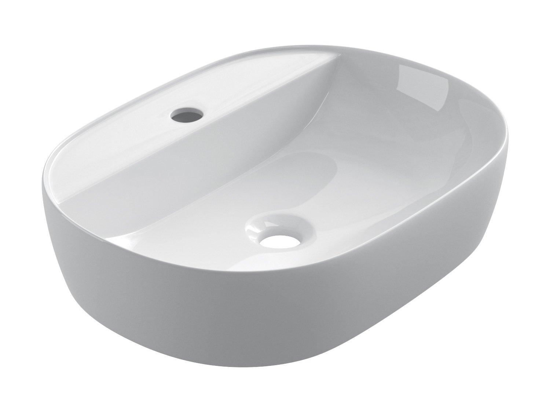 SFINO OC50 Vasque /à poser en c/éramique Starbath Lavabo pour salle de bain 50 x 38 x 12 cm