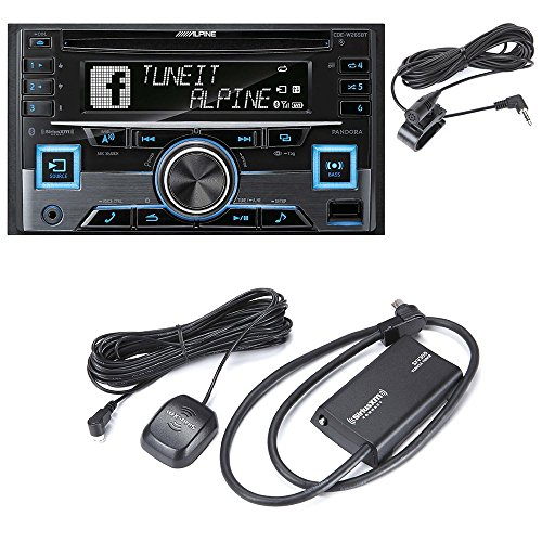 Alpine CDE-W265BT (CDEW265BT )CD receiver + SiriusXM SXV300 Connect Vehicle Tuner Car Satellite Radio