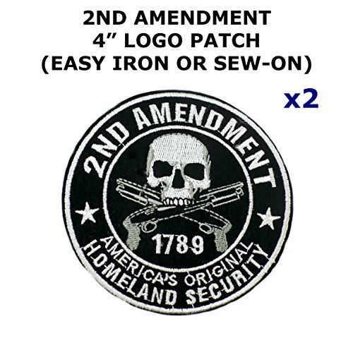 2 PCS 2nd Amendment Tactical Theme DIY Iron / Sew-on Decorative Applique - Shirt Diy Flag