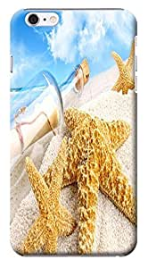 Fantastic Faye Cell Phone Cases For iPhone 6 No.18 The Fashion Design With Warm Sunshine Beach Blue Sky Clean Water Sea Star Beautiful Shell Slipper by lolosakes