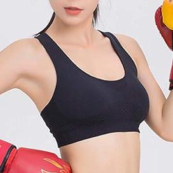 Huyizhi Sujetadores Deportivos Mujer Sujetador de Nylon de los Deportes Que reúne el Sujetador del Amortiguador