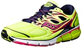 Saucony Women's Hurricane ISO-Series Running Shoe,Grey/Twilight/Citron,6 M US