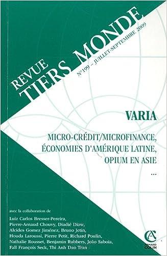 Téléchargeur gratuit de livres Google Revue Tiers Monde, N° 199, Juillet-Sept : by André Guichaoua in French RTF