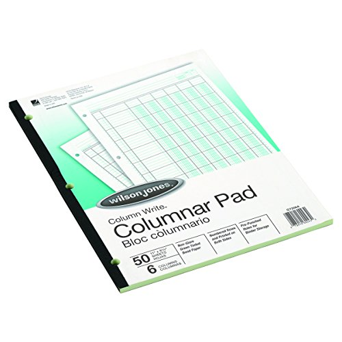 (Wilson Jones G7206A Accounting Pad, Six-Unit Columns, 8-1/2 x 11, 50-Sheet Pad)