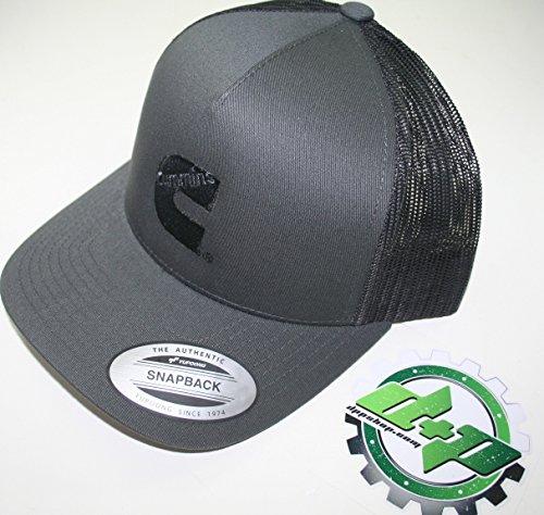 Set Power Mesh - Diesel Power Plus Dodge cummins offset logo mesh summer ball cap hat snapback black and dark gray