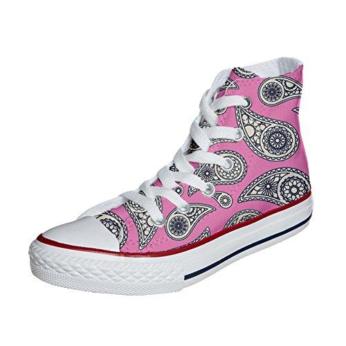 Adulto Sneakers Floral Scarpe Star Artigianali all Paisley Unisex Personalizzate Personalizzate Converse wYOq7Ux8B