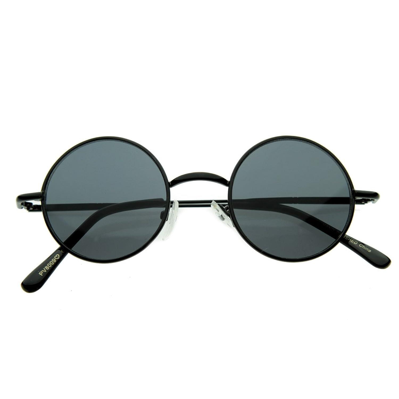 Ray ban sunglasses circle - Amazon Com Small Retro Vintage Style Lennon Inspired Round Metal Circle Sunglasses Black Shoes