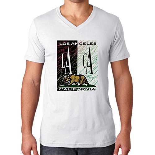 La Ca Los Angeles California V-neck Tshirt for Man (large, - Mall Ca Angeles Los