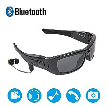 HMJZ Bluetooth con Foto Polarizada Gafas De Sol HD 1080P Grabadora De Video Gafa 32GB Tarjeta