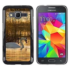 TopCaseStore / la caja del caucho duro de la cubierta de protección de la piel - Nature Beautiful Forrest Green 76 - Samsung Galaxy Core Prime SM-G360
