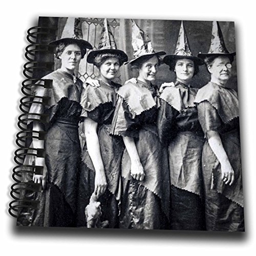 3dRose Scenes from the Past Ephemera - Vintage Halloween Witches Coven Early 1900s Scary - Mini Notepad 4 x 4 inch (Halloween Early 1900s)