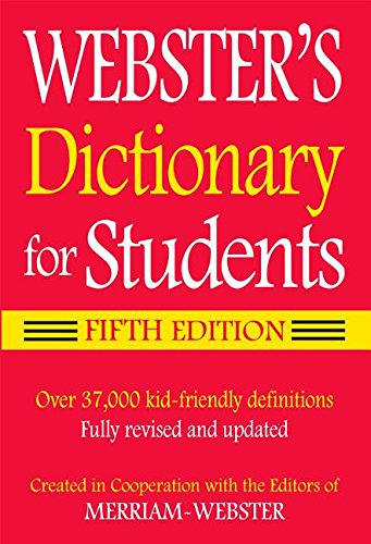 Webster's Dictionary for Students, Fifth Edition cover