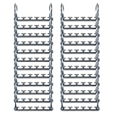 small closet organization  Max New & Improved, Pack of 24-3x The Closet Space for Easy, Effortless, Wrinkle-Free Clothes, Comes Fully Assembled, Grey