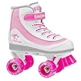 Roller Derby 1978-02 Youth Girls Firestar Roller Skate, Size 1, White/Pink