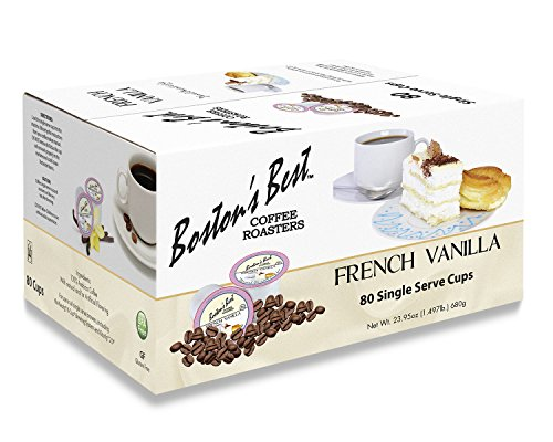 (Boston's Best Single Serve K-Cup Coffee, French Vanilla, 80 Count)
