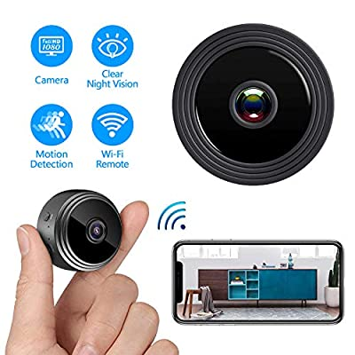 Mini Hidden Camera WiFi, Spy Camera HD 1080P Night Vision Motion Detection for Home Office Security Cam Nanny Cam, IP Camera Recording Using Indoor & Outdoor by Avioco