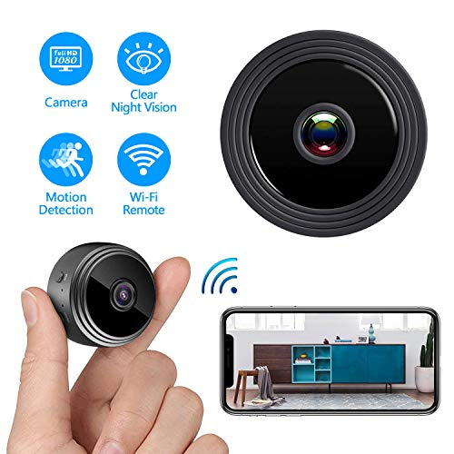 Mini Hidden Camera WiFi, Spy Camera HD 1080P Night Vision Motion Detection for Home Office Security Cam Nanny Cam, IP Camera Recording Using Indoor & Outdoor