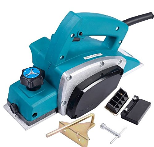 K&A Company Gopus Powerful Electric Wood Planer Door Plane Hand Held Woodworking Surface New 1000W Blue
