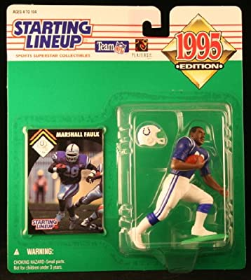 MARSHALL FAULK / INDIANAPOLIS COLTS 1995 NFL Starting Lineup Action Figure & Exclusive NFL Collector Trading Card