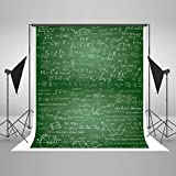 Kate Back to School Backdrop Photography Background 5×7FT Chalkboard Blackboard Classroom Theme Cotton Seamless Student Photo Backdrops for Studio Booth Shooting