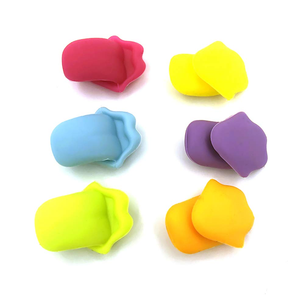 Unicoco Silicone Cup Marker Tongue Shape 6Pcs Reusable Drink Cup Tag Home Party Accessories Beer Mug Identifier Wine Glass Marker
