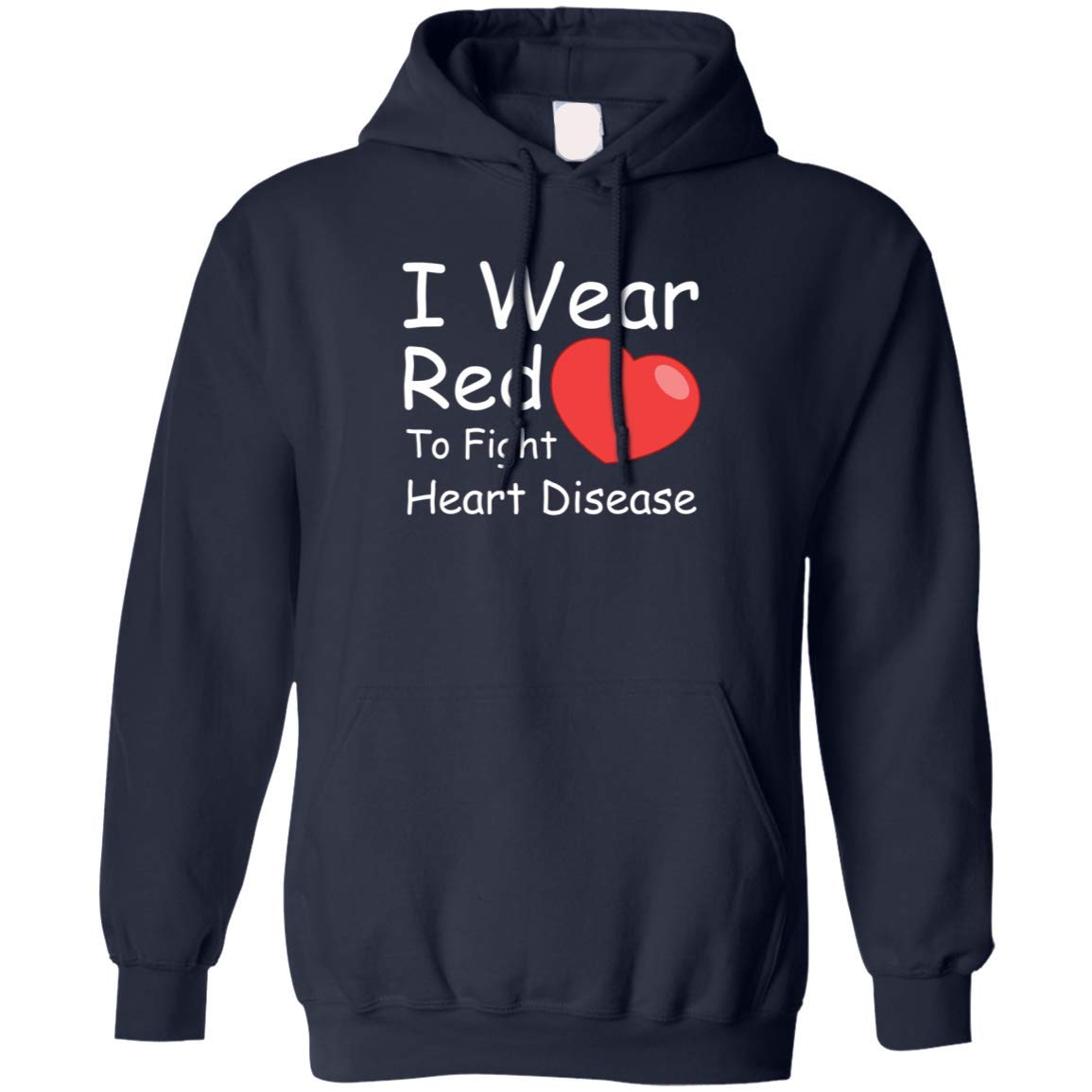 Hoodie I Wear Red-to Fight Heart Disease Short Sleeve Red