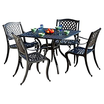 Amazon.com: 5-Piece Set con brazo sillas, mesa de comedor ...