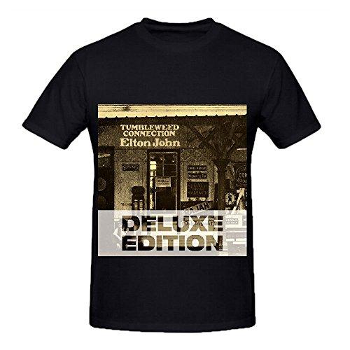 Elton John Tumbleweed Connection Soul Men Crew Neck Slim Fit Shirt Black