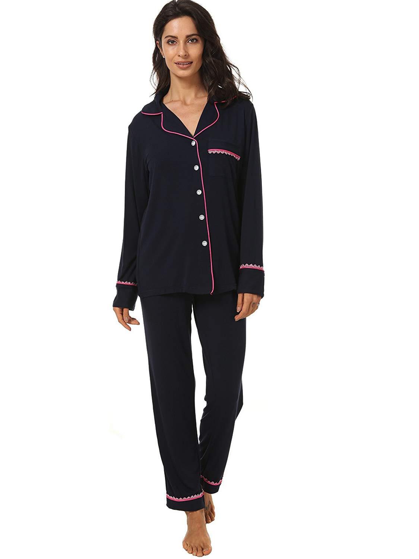 Espoir Women's 2 Piece Moisture Wicking Classic Soft and Warm Pajama Set