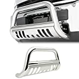 #3: 4X4TAG Premium Quality Mirror Polish Stainless Steel Bull Bar Fits Toyota Tundra 2000-2006 (Bumper Grille Guard with Skid Plate and Optional Light Holes)