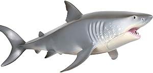 1 Pcs Sea Ocean Animals Plastic Shark Figurines Educational Toys, White Shark