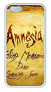 Amnesia fading memories TPU Silicone Case Cover for iPhone 5/5S White wangjiang maoyi