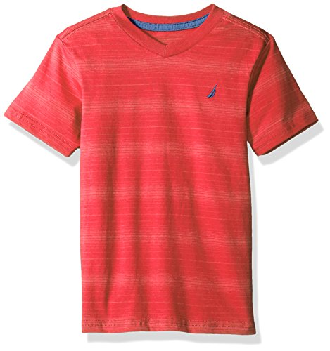 Nautica Sleeve Striped V Neck T Shirt