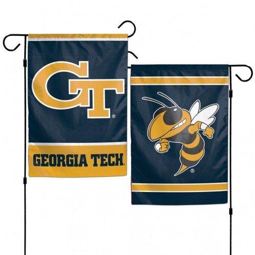 Tech Garden Flag (NCAA Georgia Tech University 12x18 Inch 2-Sided Outdoor Garden Flag Banner)