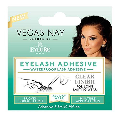 Eylure Vegas Nay Fake Eyelashes Glue, Safe and Effective, Fast Drying, Clear Finish ()