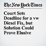 Court Sets Deadline for a VW Diesel Fix, but Solution Could Prove Elusive   Jack Ewing