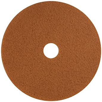 "Glit 13324 TK Polyester Blend Tan Buff Polishing Floor Pad, Synthetic Blend Resin, Talc Grit, 24"" Diameter, 175 to 350 rpm (Case of 5)"