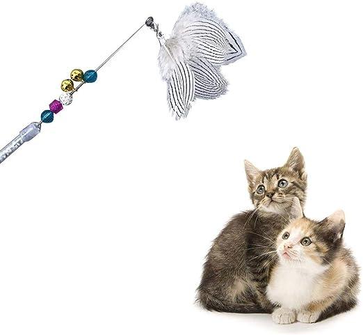 HUIDE Plumas,Bolas de Cristal,Gatos,porras,Juguetes,rascarse,Juguetes, Ratones,Gatos,Mascotas.: Amazon.es: Productos para mascotas