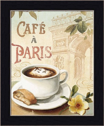 Cafe In Paris I By Lisa Audit Coffee Kitchen Sign Wall Art Print Framed D Cor