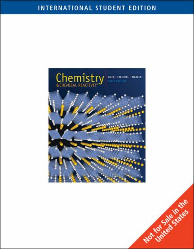 Chemistry and Chemical Reactivity (International Students Edition)