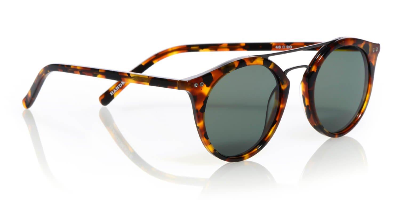eyebobs Putter Unisex Premium Polarized Sunglasses, Navy and Yellow with Gunmetal Bridge and Grey Polarized Lenses