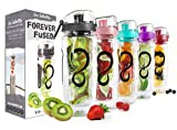 Live Infinitely 32 oz. Infuser Water Bottles - Featuring a Full Length Infusion