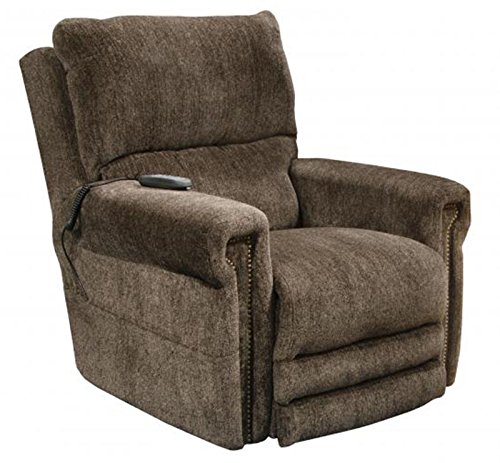 Catnapper Warner 764862 Power Lift Lay Out Dual Motor Infinite Position Recliner Chair - Power Lumbar Support Power Headrest - Extended Ottoman Footrest - 300 Capacity Tigers Eye with In-Home Delivery by Catnapper Warner 764862