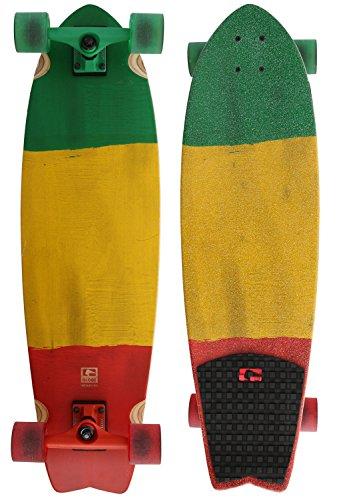 GLOBE HG Chromatic Cruiser Skateboard, Rasta Flag