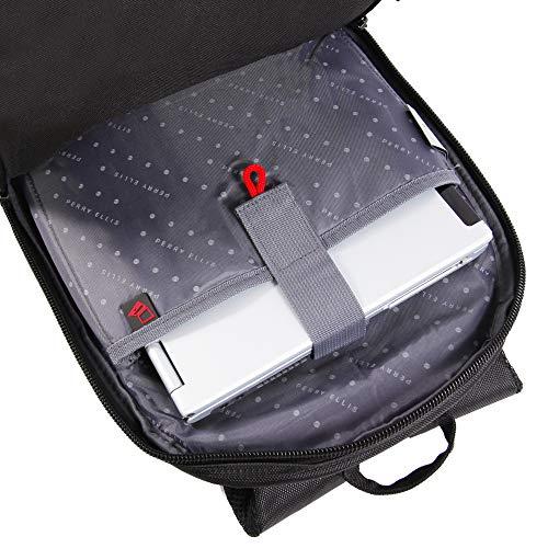 51cKL148NIL - Perry Ellis M160 Business Laptop Backpack, Black