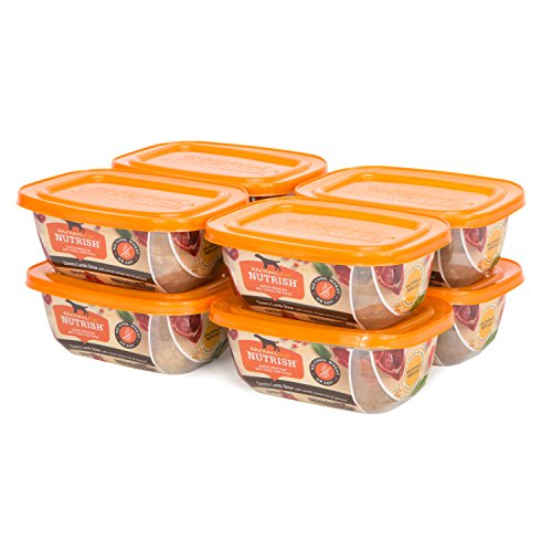 Rachael Ray Nutrish Savory Lamb Stew with Carrots, Brown Rice & Spinach Wet Dog Food, 8 Tubs