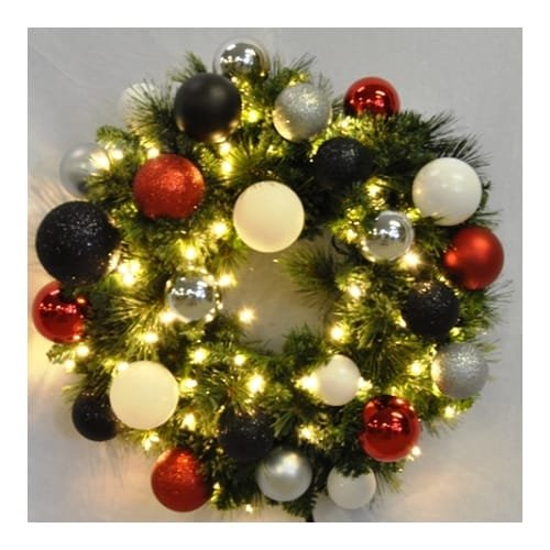 Christmas at Winterland WL-GWSQ-06-MOD-LWW 6 Foot Pre-Lit Warm White Sequoia Wre, Warm White -