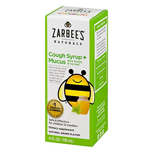 (Zarbee's Naturals Children's Cough Syrup + Mucus with Dark Honey & Ivy Leaf, Natural Cherry Flavor, 4 Ounce)
