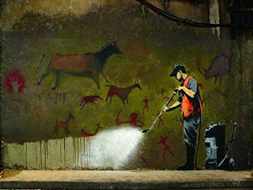 quadri & cornici HB - Banksy  Leake Street, London  quadro pannello,stampa su legno, poster su legno, bordo nero